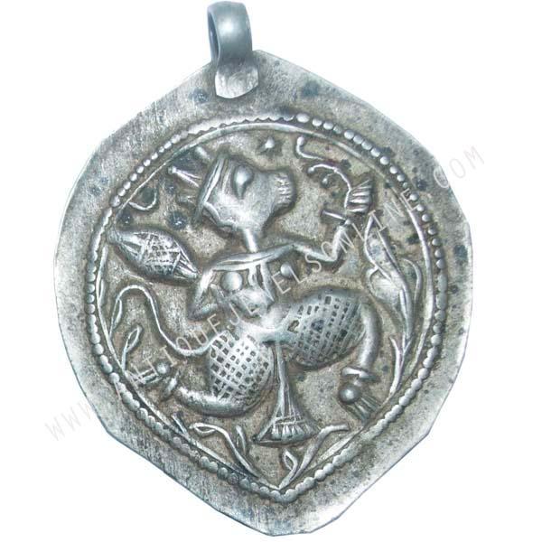 Silver hanuman pendant antique jewels silver hanuman pendant aloadofball Images